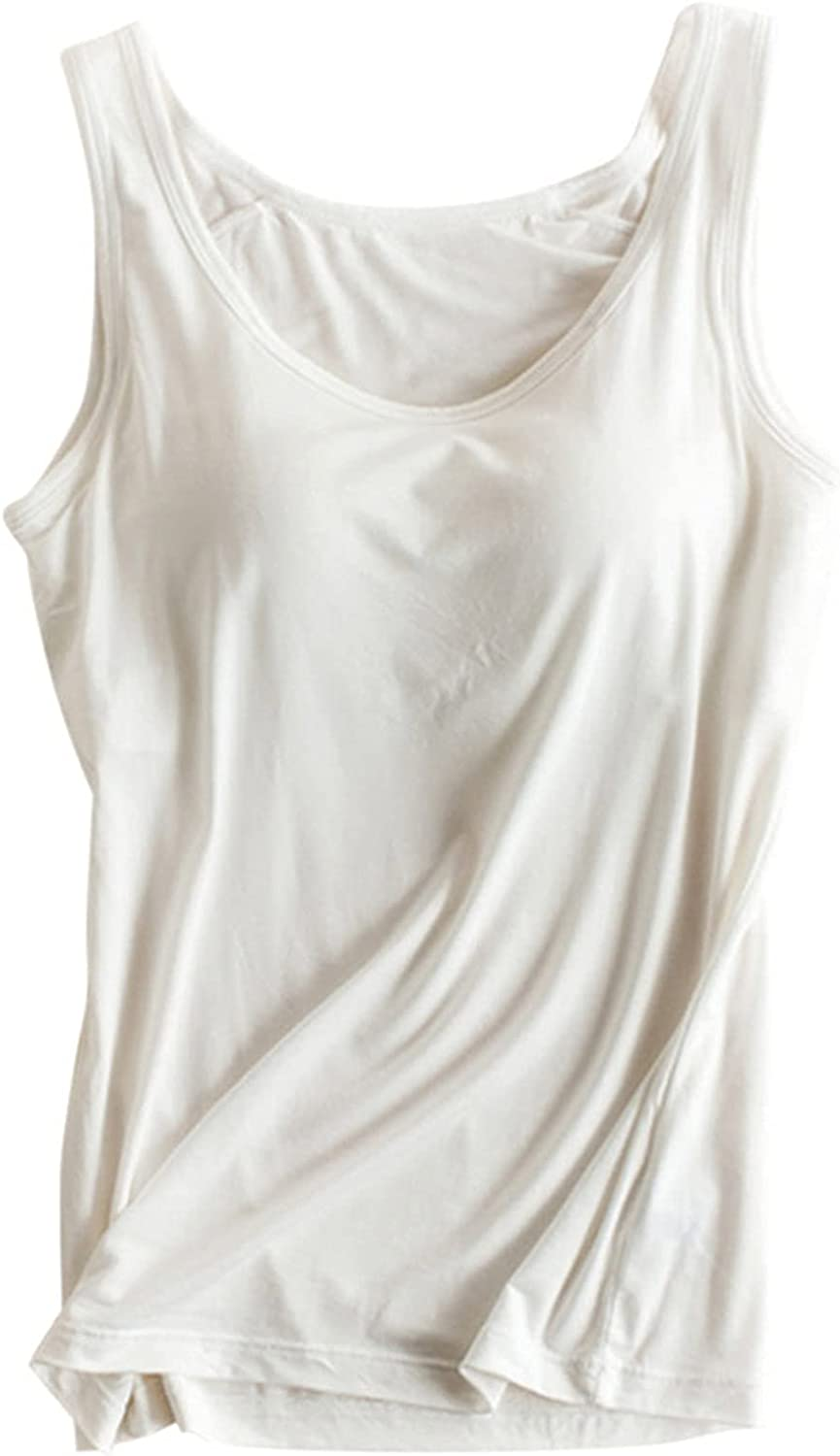 Pink Wind Bra Padded Cami Tanks Tops for Women Camisole with Built in Bra