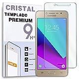 REY Protector de Pantalla para Samsung Galaxy J2 Prime, Cristal Vidrio Templado Premium