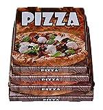 100 Pizzakartons Pizzaboxen Weiß Kraft 4,2cm hoch verschiedene Größen zur Auswahl (30x30x4,2cm)