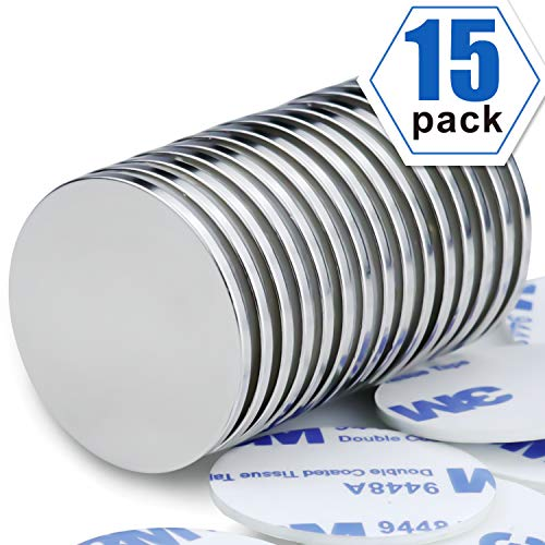 Powerful Neodymium Disc Magnets Permanent Rare Earth Magnets Fridge DIY Building Scientific Craft and Office Magnets 126 inch x 008 inch Pack of 15