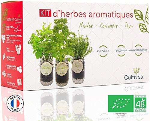 Cultivea – Kit Prêt à Pousser d'Herbes Aromatiques – Graines...