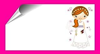 Kit 96 Etiquetas Mi Primera COMUNIÓN - Pegatinas Adhesivas Personalizables, Comunion para Regalo, Invitacion, Fiesta, Candy Bar, Obsequios, Botes Chuches, Dulces, Tarros