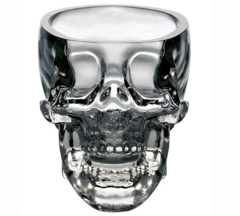 大聖堂涙ソフトウェアキッチン&ダイニングEntertaining Glassware Drinkware Old Fashioned Glasses Skull Cup for Serving Scotch Whiskey Mixed Drinks 75?Ml S クリア