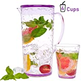 vino Decanter jarro de agua 1.2L Bormioli Rocco 6 pieza Aquaria Water Glass jarra con corcho Tapa Set t/é helado