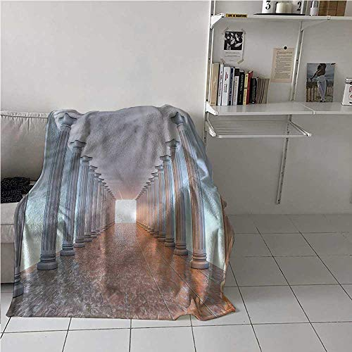 Flannel Blanket Throw Vintage Air Conditioner Blanket Marble Floor Old Library Best Gift for Women, Men, Kid, Teen 50x60 Inch