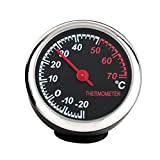 Winomo Auto-Thermometer Stahl klein mit Zeiger für den Kfz-Innenraum (Schwarz)