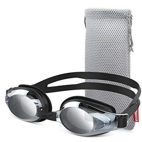 ZIONOR Schwimmbrille, G8 Komfort Anti Nebel Schwimmbrille für Herren und Damen, UV-Schutz, Spiegel/Klar Linse, Verstellbar Gurt, Profi Schwimmbrillen für Erwachsene Jugendliche