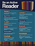 Gerard Aflague Collection 18' x 24' Be an Active Reader - Reading Strategies Poster - Offset Printed, Cold Lamination Only - Multicolor