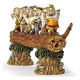 Garden Gnomes Statue 7 Dwarfs Trees Fairy Garden Figurine Sculpture Resin Ornament Outdoor Patio Lawn Decor