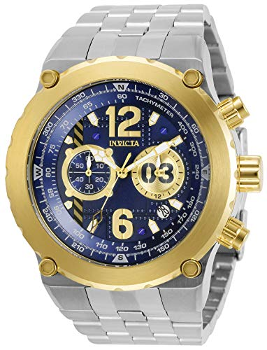 Invicta 31594 Men's Aviator Chrono Blue and Gold Dial Steel Watch