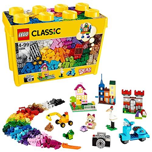 LEGO 10698 Classic Caja de Ladrillos Creativos Grande, Juego de Construcción para Niños y Niñas +4 años