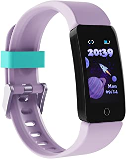 Poryoo Fitness Tracker Watch for Kids Girls Boys Teens, Waterproof Activity Tracker with Pedometer, Calories Counter, Hear...