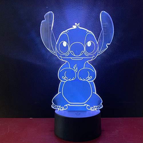 Creativo personaje de cuento de hadas lámpara de mesa 3d LED luz de noche multicolor acrílico dormitorio decoración regalo