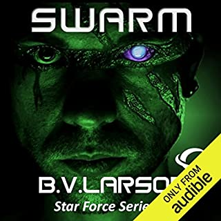 Swarm     Star Force, Book 1              Written by:                                                                                                                                 B. V. Larson                               Narrated by:                                                                                                                                 Mark Boyett                      Length: 10 hrs     8 ratings     Overall 4.3