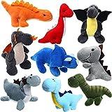 9 Piezas Dinosaurios de Peluche Mini Figuras de Dinosaurio de Peluche de 4-6 Pulgadas Juguete Surtido de Llavero de Peluche Set de Animal Dinosaurio Suave con Relleno para Favor de Fiesta