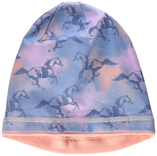 maximo Mädchen Jerseymütze Mütze, Mehrfarbig (Denimblue-rosa-Pferd 31),...
