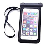 Universal Clear Waterproof Pouch Bag Dry Case Cover For Cell Phone iPhone 4 5 6 Plus Samsung Galaxy S5 S6 Edge Note 3 HTC M8 M9 LG G3 G4 (Black)