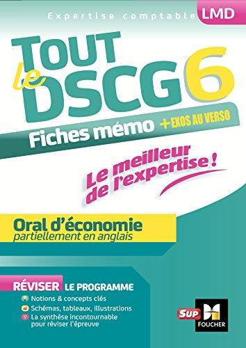 Tout le DSCG 6 - Oral d'économie (LMD collection Expertise comptable)