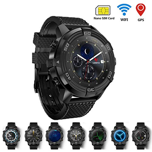 Comecall Smart Watch for Men Android 5.1 Watch Phone IP67 Waterproof GPS Tracker 1GB + 16GB Smartwatch with Replaceable Strap