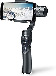 ジンバル スマホ スタビライザー 手持ちジンバル 自撮り棒 垂直&水平撮影手ブレ防止 撮影安定 手持ち 映画作成 iPhone/Android対応 操作簡単 自動調整 Bluetoothに接続 初心者 日本語取説付属