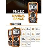 Doolland PM18C Multimètre Numérique Tension Courant Résistance Capacité Fréquence Température Testeur ℉ / ℉ hFE NCV Testeur De Ligne en Direct