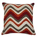 McAlister Textilien Navajo Sofakissen mit Füllung in Rot &