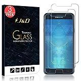 J&D Compatible para 3-Pack Galaxy J7 2018 Protector de Pantalla, [Vidrio Templado] [NO Cobertura Completa] Cristal Templado Protector de Pantalla para Samsung Galaxy J7 2018 - No para Galaxy J7 2017