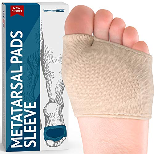 Metatarsal Pads - Gel Sleeves Forefoot Cushion Pads - Fabric Soft Foot...