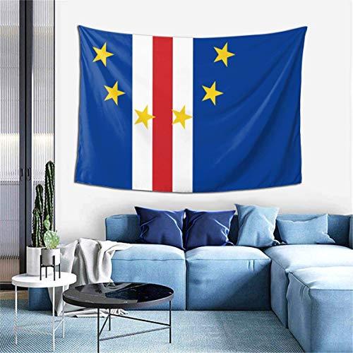 Modischer, schöner Wandbehang, Wandteppich, Flagge von Cape Verde, Decke, Tagesdecke, Strandüberwurf für Zuhause, Schlafzimmer, Wohnzimmer, Collage, Wohnheim, 101,6 x 152,4 cm