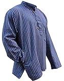 Camisa estilo hippie multicolor, de manga larga, ligera y cómoda, para hombre Morado mezcla de morado Large