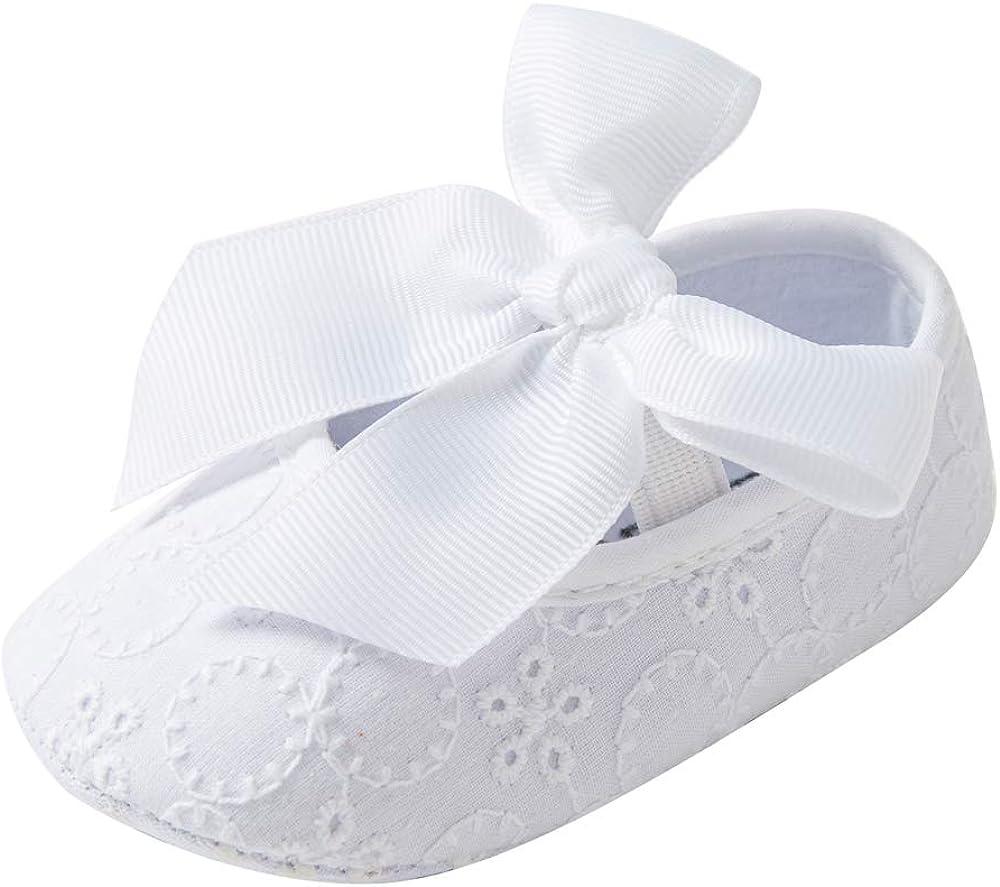TSAITINTIN Baby Girls Mary Jane Flats Anti-Slip Bow Toddler Princess Dress Shoes