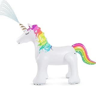 Jasonwell Unicorn Sprinkler Inflatable Unicorn Water Toys Outdoor Inflatable Ginormous Unicorn Yard Sprinkler for Kids (L)