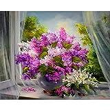 DIY pintura por números flores lienzo dibujo figura pintura al óleo pintado a mano decoración del hogar regalo A20 50x70cm