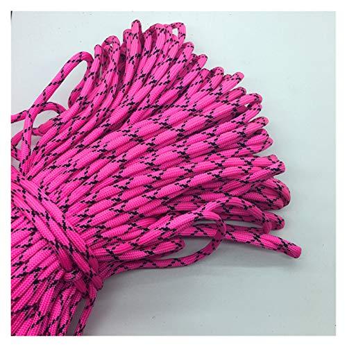 10 yardas/parcela mezcla color paracord pulseras cuerda 7 hebra paracaídas cordón camping senderismo rosa + negro