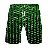 SHE.White Herren Shorts Lustig Sommer 3D Punkt Gedruckt Schwarz, Männer Geschnallt Hawaiian Beach Fit Kurze Hose Sporthose Casual Shorts Hose 2XS-4XL