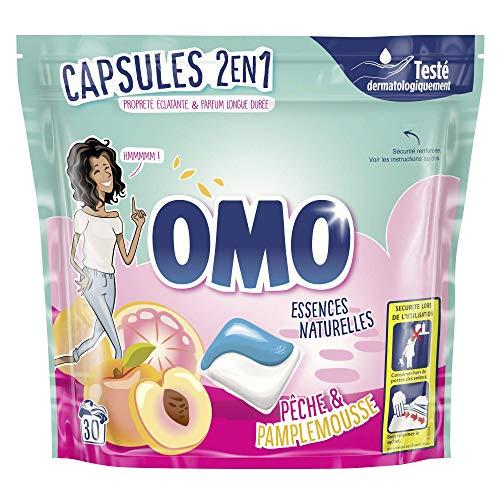 OMO Waschmittel Kapseln 2-in-1, Frucht-/Sommerblumen, 30 Pads, 3 Stück