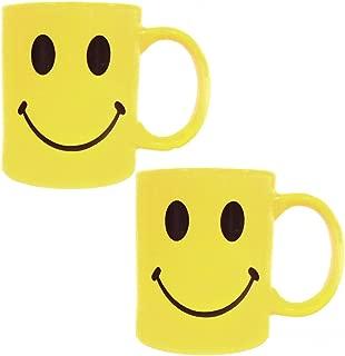 Yellow Retro Smiley Face Coffee Cup Mug - Ceramic - 8 Oz (2)
