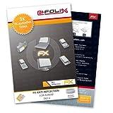 atFoliX Panzerfolie kompatibel mit AvMap EKP V Schutzfolie, entspiegelnde & stoßdämpfende FX Folie (3X)