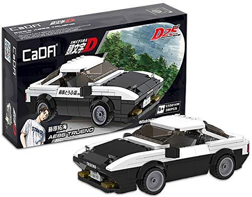 dOMOb Toyota AE86 Trueno – Initial-D 25-th Anniversary – CADA Bricks Toys for 8+ Age Kids & Adults – Realistic Car Model 1:24 Simulated Build – 280 Bricks or Blocks – for Boys, Hobbyist, Collector