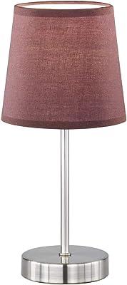Monzana Lámpara de mesa de pie con pantalla gris 32x10x10 cm luz ...