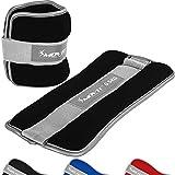 Movit 2er Set Gewichtsmanschetten Neopren mit Reflektormaterial Laufgewichte für Hand- und...