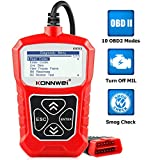 KONNWEI KW310 OBD2 Scanner Full OBDII Functions 10 Modes Automotive Engine Fault Code Reader Scan Tool for All 1996 and Newer Cars (Red) obd2 Feb, 2021