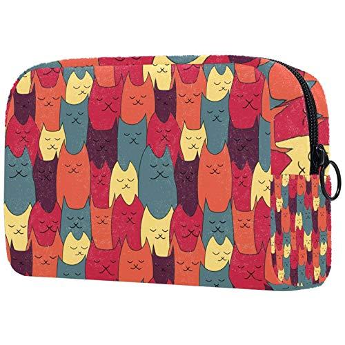 Multifuncional Cosméticos Bolsa Super Fuego Transparente Portátil Mujer Viaje Gran Capacidad Impermeable Bolsas de Baño Bolsa de Almacenamiento BoxCat Animal
