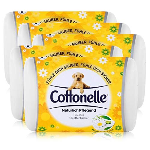 5x Hakle Cottonelle feuchte Toilettentücher Kamille & Aloe Vera 42 Tücher, Starterset