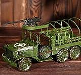 GWFVA Retro Modelo de vehículo Todoterreno Retro Jeep, Decoraciones manuales para vehículos Militares, Accesorios para automóviles Antiguos, vehículos Militares de Tres Ruedas M79, M79 de vehículo