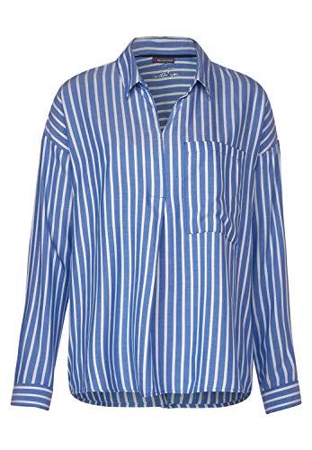 Street One Damen Hemdbluse mit Streifen Spring Blue 44
