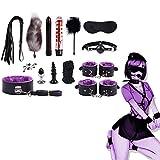 Adminitto88 14pcs / Set Nuevo Juguete Sexy con Juego De Felpa, Juego Especial Incluido, Kit De Juguete con Paquete De PU De Cuero SM