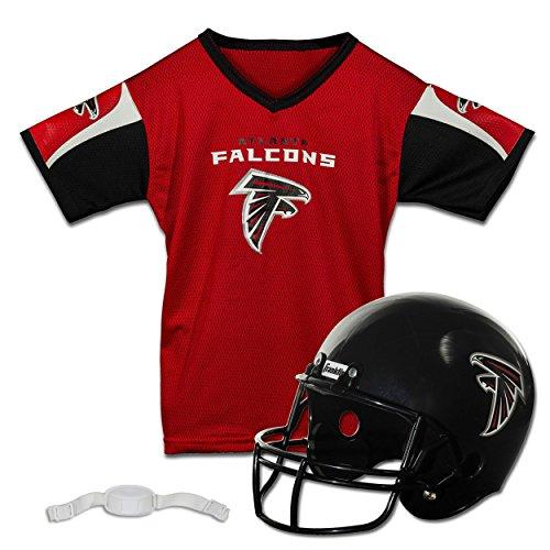 Franklin Sports NFL Atlanta Falcons Kids Football Helmet and Jersey Set - Youth Football Uniform Costume - Helmet, Jersey, Chinstrap - Youth M
