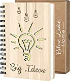 Cuaderno Bonitos, Libreta Original de Madera, A5, Bloc de Notas, Diarios para Escribir, Ideas de Regalos Originales para Hombre, Mujer, Cumpleaños, Amigas, Padre, Niño, Años