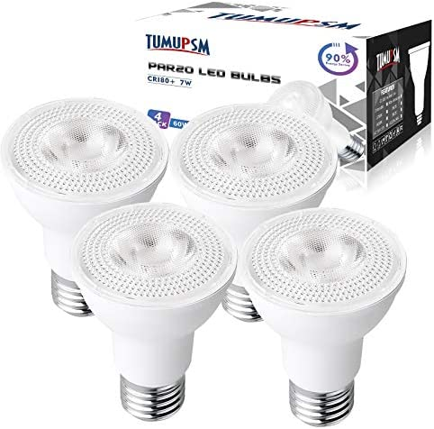 LED PAR20 Light Bulbs Dimmable 3000K Warm White 7W 600LM E26 Flood Bulb 50W 60W Halogen Equivalent product image